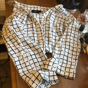 Xxs checkered blouse